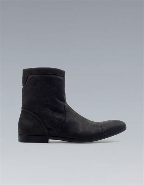 zara boots mens zara ankle boots in black for lyst