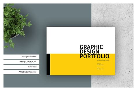 Graphic Design Portfolio Template By Tu Design Bundles Cool Portfolio Templates