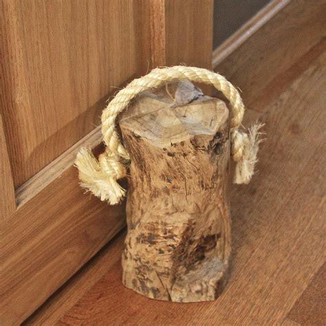 country rustic doorstops chunky and heavy wooden door stop cosy home blog