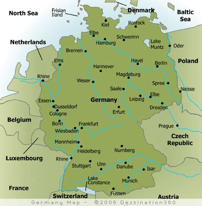 cities in germany map of major cities in germany germany pinterest