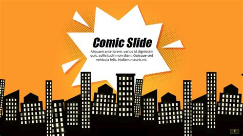 comic book powerpoint template google slides theme
