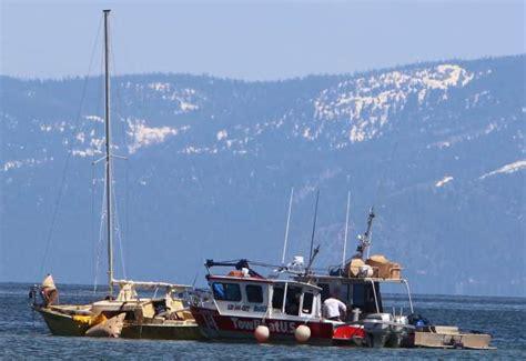 Sunken sailboat raised from Lake Tahoe?s floor may not be