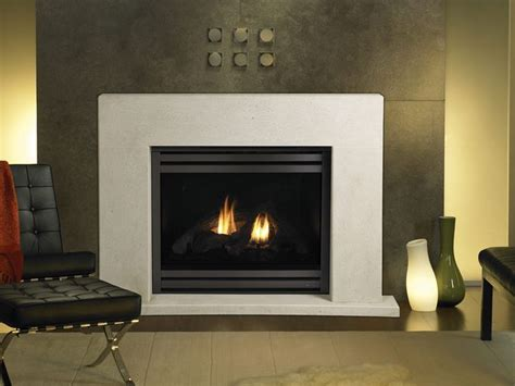 gas fireplace simple surround fireplace