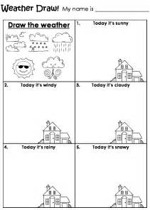 Weather worksheets for kindergarten draw the weather draw different