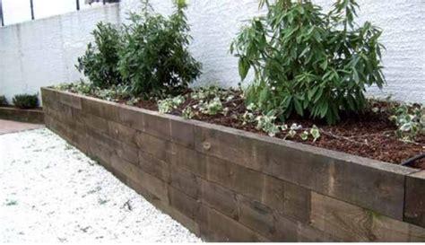 traviesas para jardin traviesas de tren para jardin galera otros usos jardinera
