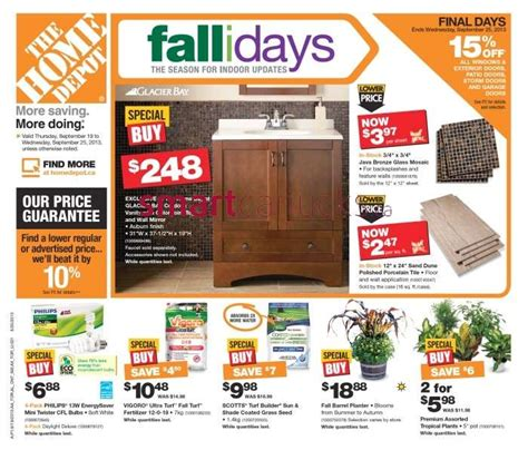 home depot flyer september 19 to 25