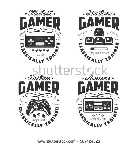 Videogame Retro Vintage Joystick T Shirt Retro Related Tshirt Design Stock Vector