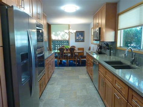 Shop For Kitchen Cabinets - natural beech wood shaker galley kitchen craftsman kitchen orange county by the cabinet lady