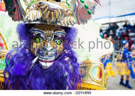 dancers in costume, carnival, oruro, bolivia, south