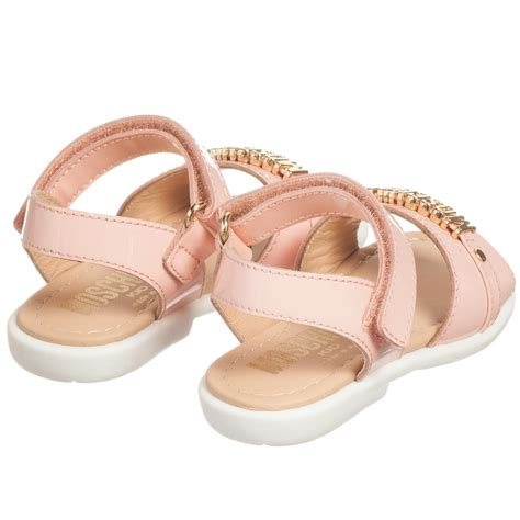 pale pink sandals moschino kid pale pink patent leather sandals