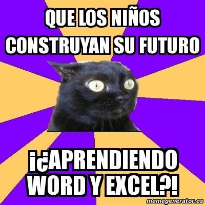 Anxiety Cat Meme Generator - meme anxiety cat que los ni 209 os construyan su futuro