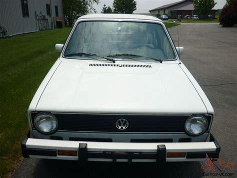 1985 volkswagen rabbit awesome 1985 volkswagen cabriolet 28k white