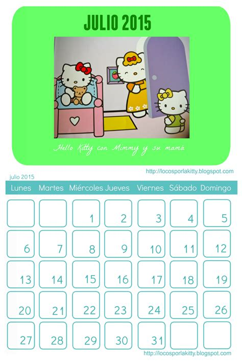 Calendario De Julio 2015 Calendario Julio 2015 Para Imprimir Images