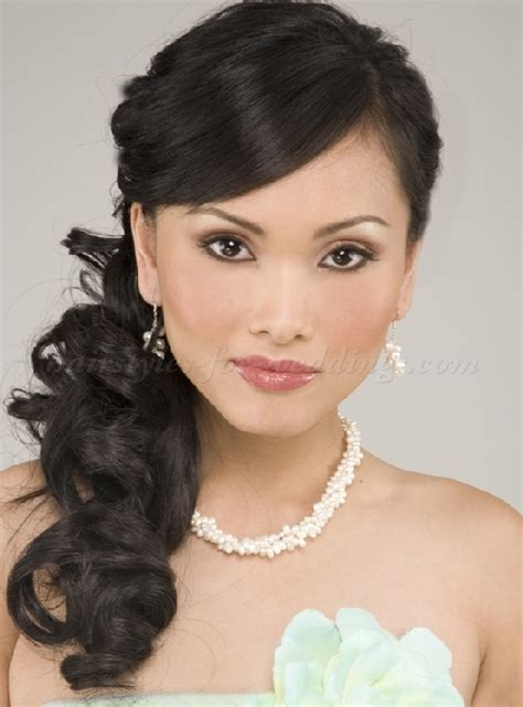 Curly Hairstyles To The Side For Wedding by Ponytail Hairstyles Curly Side Ponytail Hairstyles For