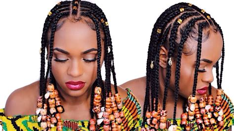 how to make fulani hairstyle how to 5 fulani braids hair makeup comment faire la