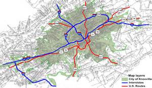 us map knoxville tn u s highway routes in city of knoxville city of knoxville