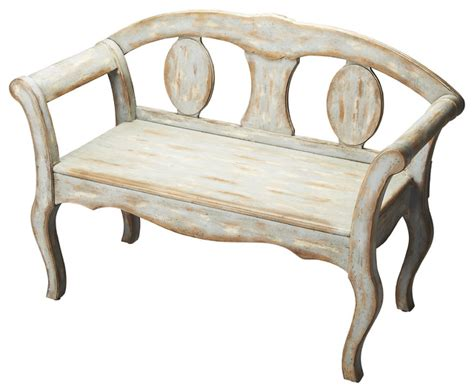 shabby chic benches artisti s originals light blue distressed bench shabby