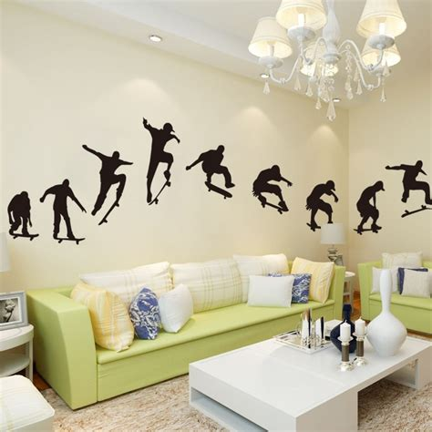 skateboard wall stickers buy wholesale skateboard wallpaper from china