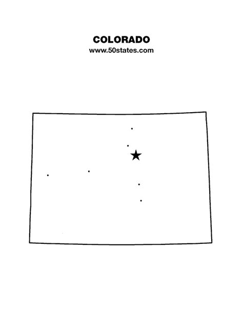 Colorado Map Outline by Colorado Map