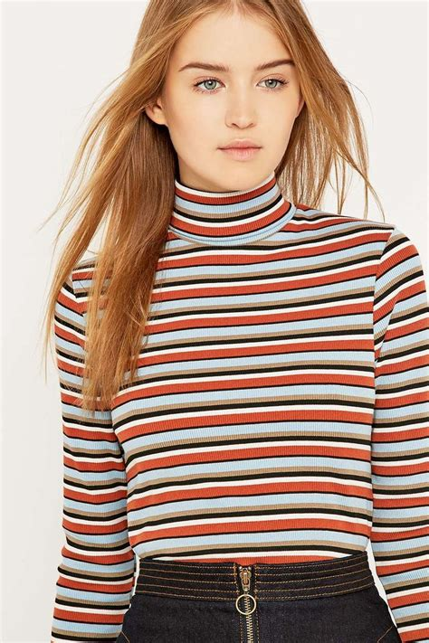 Striped Ribbed Turtleneck best 25 striped turtleneck ideas on