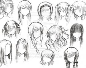 step by step hairstyles to draw how to draw anime hairstyles for girls step by step