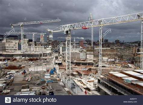 best stock image site building construction site in liverpool uk