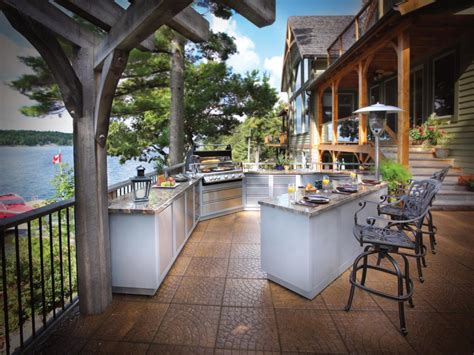 exterior kitchen optimizing an outdoor kitchen layout hgtv