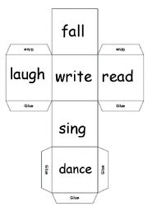 printable verb dice english teaching worksheets dice games