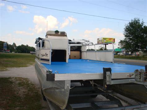 pontoon boat bed liner mikes paint and body speedliner spray in bedliner