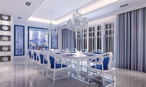Blue and white dining room ideas
