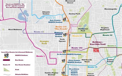 map of atlanta marta marta routes maps