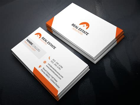 real estate business card template real estate business card 29 graphic
