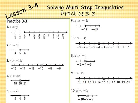 Solving Multi Step Inequalities Worksheet by Chapter 3 Algebra I Algebra I Solving Inequalities