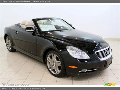 lexus convertible 2008 2008 lexus sc 430 convertible in obsidian black photo no