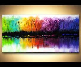 colorful seasons prints painting colorful reflection seasons abstract