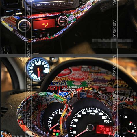 How To Sticker Bomb Car Interior Image Gallery Jdm Sticker Bomb Interior