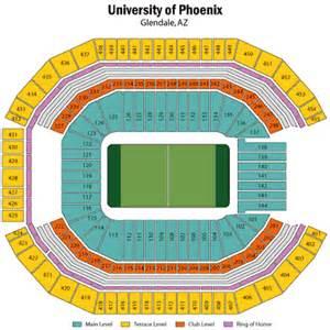 University Of Phoenix Stadium Map by Super Bowl Xlix Seating Chart Cardinals Stadium Top