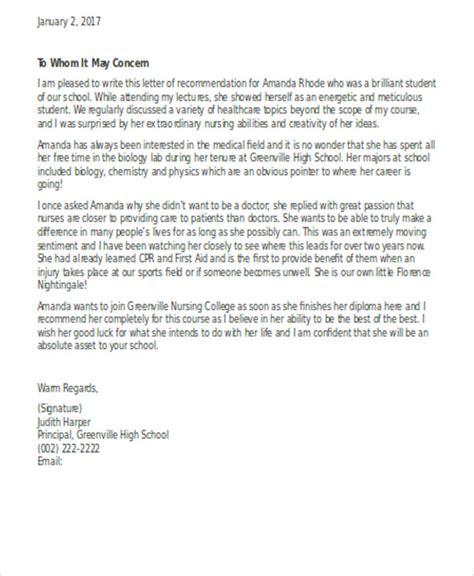 business letter format for nursing 9 sle nursing reference letter free sle exle