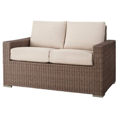 target loveseat heatherstone wicker patio loveseat threshold target