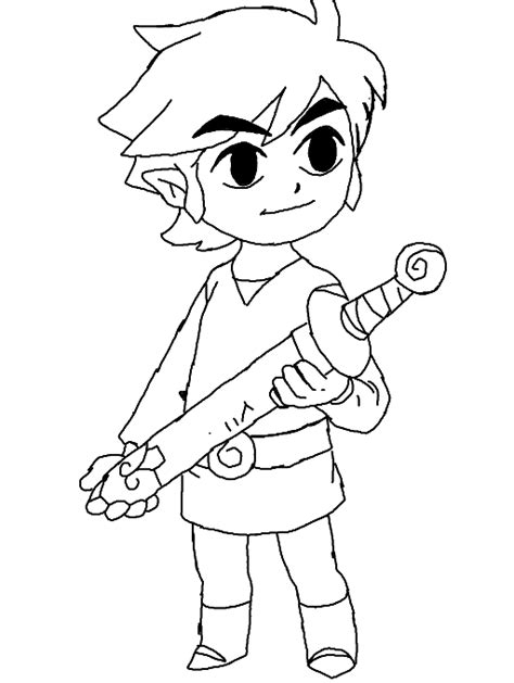 toon link coloring page