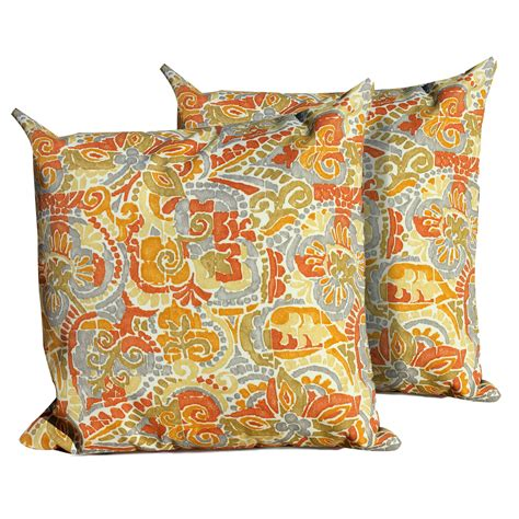 marigold outdoor throw pillows square set of 2