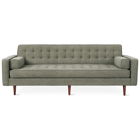 sofa military spencer modern sofa in vintage army walnut