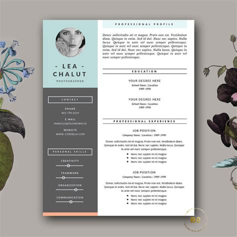 Creative Resume Design by Resume Template Creative Resume Design Cover Letter For Ms