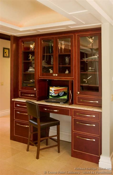 Home Office Ideas With Kitchen Cabinets Pictures Of Kitchens Traditional Wood Cherry