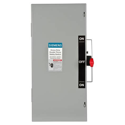 siemens double throw  amp  volt  pole indoor