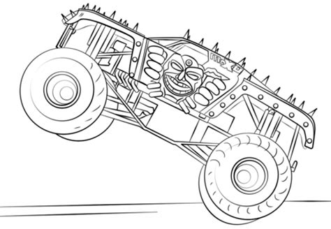 max  monster truck coloring page  printable