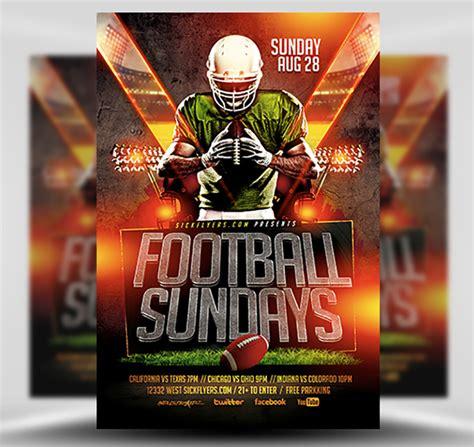 Football Sundays Flyer Template Flyerheroes Football Flyer Template