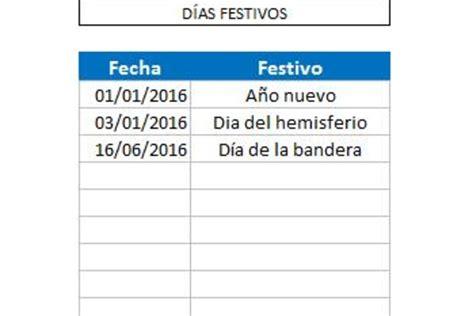 calendario pago planilla primer semestre pago 2016 planilla de excel calendario 2016 domingo a s 225 bado