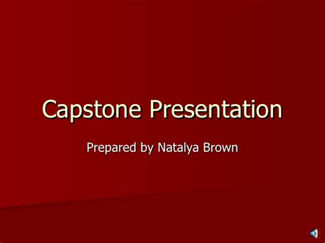 Mba Capstone Website by Capstone Presentation