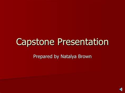 Mba Capstone Wgu by Capstone Presentation